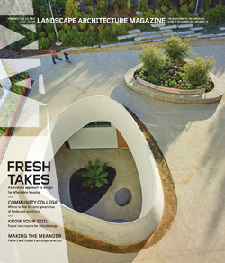 مجله Landscape Architecture Magazine USA؛ فوریه 2021