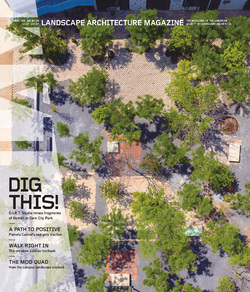 مجله Landscape Architecture Magazine USA؛ اکتبر 2020
