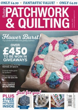مجله Patchwork & Quilting UK؛ اکتبر 2018