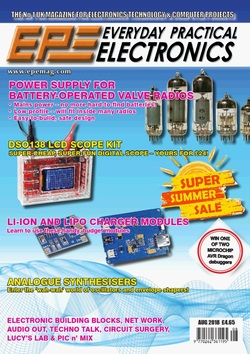 مجله Everyday Practical Electronics؛ آگوست 2018