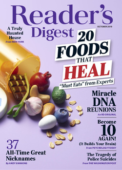 مجله Readers Digest USA؛ اکتبر 2019
