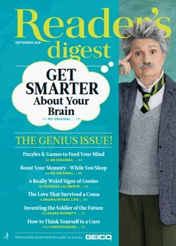 مجله Readers Digest USA؛ سپتامبر 2018